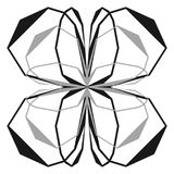 Intersecting lines w/ symmetric geometry. Abstract radial, geome. Tric element  - Royalty free vector illustration Stock Image