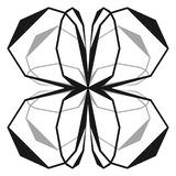 Intersecting lines w/ symmetric geometry. Abstract radial, geome Royalty Free Stock Image