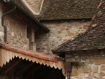 Intersecting rooflines of the cloister Royalty Free Stock Image