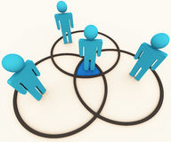 Intersecting venn social diagram Stock Photo