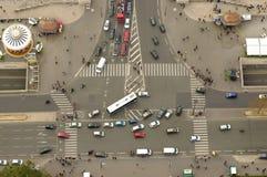 Intersection à Paris, France Photo stock