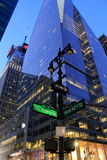 Intersection of Avenue Of The Americas and West 42nd Street,NYC,2015 Royalty Free Stock Images