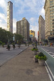 Intersection of Broadway and Fifth Avenue Stock Photos