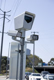 Intersection Camera. Traffice enforcement camera at an intersection Stock Photography