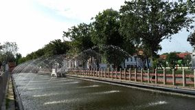 Intersection canal. In Wat Benchamabophit or The Marble temple Royalty Free Stock Images