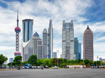 Intersection of Century Avenue and Lujiazui Ring Road. Shanghai Stock Photos