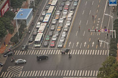 Intersection in Changsha City Royalty Free Stock Photo
