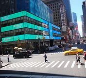 Intersection in the city. Crossing intersection in new york city royalty free stock photography