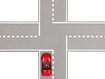 Intersection. A close up shot of a traffic intersection Royalty Free Stock Photos