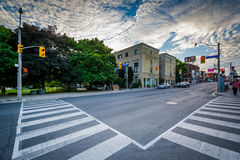 The intersection of Crescent Road and Yonge Street, in Midtown, Royalty Free Stock Photos