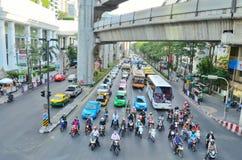 Intersection d'embouteillage Images libres de droits