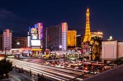 Intersection de bande de Las Vegas et de route est de flamant photographie stock