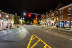 Intersection de Broadway à New Haven, le Connecticut photographie stock