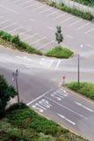 Intersection de circulation Photos stock