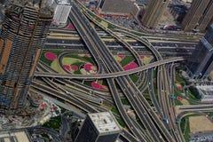 Intersection de Dubaï Photographie stock libre de droits