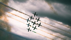 Intersection de Frecce Tricolori Image stock