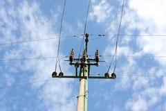 Intersection de lignes électriques Image stock