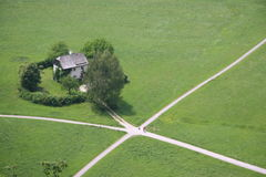 Intersection de pays Image stock