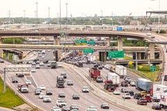 Intersection de route à Dallas images libres de droits