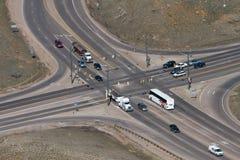 Intersection de route photo libre de droits