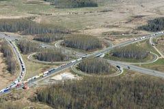 Intersection de route Photo stock