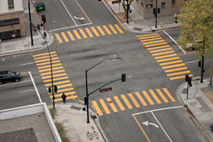 Intersection de rue Photos stock