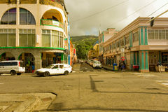 An intersection downtown st. vincent in the grenadines Stock Photo