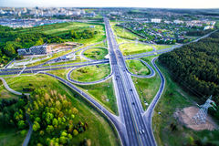 Intersection du trafic de route Photo libre de droits