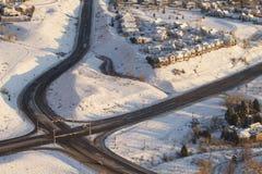 Intersection et Chambres aériennes Images libres de droits