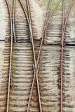 Intersection ferroviaire Photographie stock libre de droits