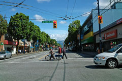 Intersection of Fraser and 49th, Vancouver B.C., Canada Stock Photography