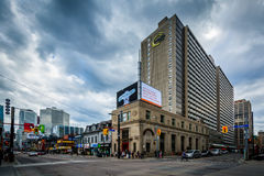 The intersection of Gerrard Street and Yonge Street, in Toronto, Stock Photos