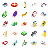 Intersection icons set, isometric style. Intersection icons set. Isometric set of 25 intersection vector icons for web isolated on white background Stock Images