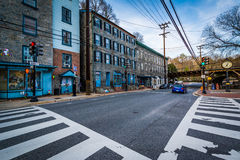 Free Intersection In Downtown Ellicott City, Maryland. Stock Image - 69849061