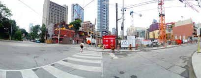 Intersection of Jarvis and Dundas, 2017 08 04 -a Royalty Free Stock Photography