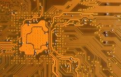 Intersection jaune de circuit photos libres de droits