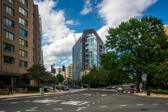 The intersection of L Street and New Hampshire Avenue, in Washin Stock Photos