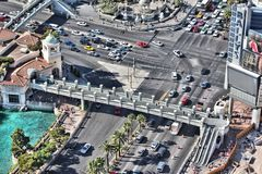 Intersection in Las Vegas Stock Photography