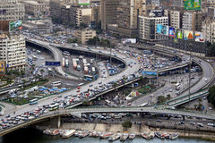 Intersection le Caire de survol Photo stock
