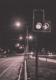 Intersection light in BW royalty free stock image