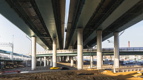 Intersection of modern overpasses. And highways Stock Images