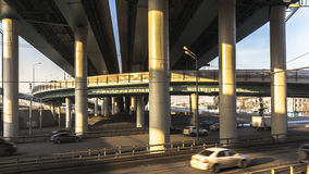 Intersection of modern overpasses. And highways Royalty Free Stock Photo