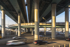 Intersection of modern overpasses. Moscow Royalty Free Stock Images