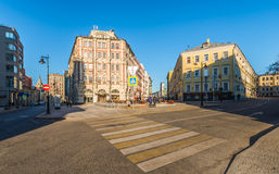 The intersection Myasnitskaya street and the Big Kozlovsky lane. stock photos