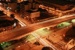 Intersection at night Royalty Free Stock Images