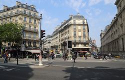 Intersection in Paris, France royalty free stock photos