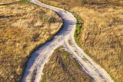 The intersection of the paths. The concept of life choice Stock Photo