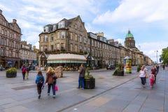 Intersection Queensferry Street, Lothian Road in Edinburgh. Edinburgh, Scotland - September 10, 2016: intersection Queensferry Street, Lothian Road, with Stock Images