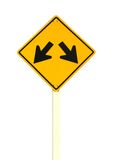 Intersection sign. On white background Royalty Free Stock Images