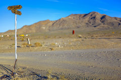 Intersection, Sign, Desert Royalty Free Stock Image